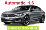 Fiat Tipo 1.6 a/c 4 door large trank space 5 passenger 3 to 4 suitcases Automatic